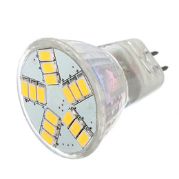 éclairage à économie d'énergie Promotion MR11 GU4 a mené l'ampoule menée par économie d'énergie de tache menée par ampoule de lampe du CC AC / DC 12V 5730 SMD LED / blanc chaud