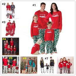 Wholesale Kids Winter Pjs - Retail Xmas Family Matching Christmas snowflake Pajamas PJs Sets Kids Women Men Adult Xmas Sleepwear Nightwear Long sleeve Clothing outfits