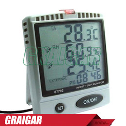 Wholesale Temp Humidity - AZ87792 Digital temperature humidity meter with outdoor testing probe,87792 IN OUT temp. & RH% monitor meter
