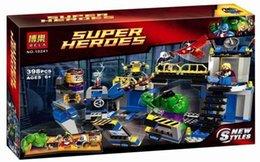 Wholesale Super Smash - Bela 10241 Super Heroes MARVEL AVENGERS Hulk Lab Smash Set with Taskmaster Falcon Hulk THor Turret Robot Modok minifigures toys