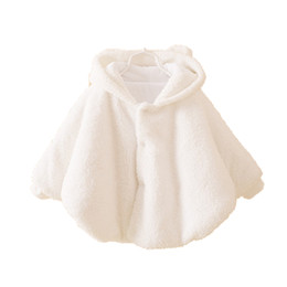 Wholesale Clothes Coats For Rabbits - Wholesale-2015 Fashion 0-2Y Rabbit Designs Baby Girl Clothes ,Warm Fleece Cloak Toddler Girl Clothing Cape For Outerwear Coat,Baby Clothes
