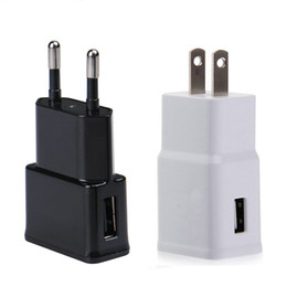 Wholesale Logo Printed Usb - white black color USB Wall Charger 5V 1A 2.1A Adapter with US EU plug can print client logo NO Tariff channel 4000pcs