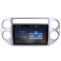 """Wholesale Volkswagen Mirrors - 9"""" Android 7.1 System Tape Recorder For Volkswagen Tiguan 2010-2015 With 2G RAM Quad Core GPS HDMI 4K OBD DVR Mirror Screen SWC NO CAR DVD"""