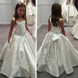 Wholesale Pnina Tornai Ruffles Wedding Dresses - 2015 Gorgeous Ivory Little Flower Gril's dresses with Lace-up Back PNINA TORNAI Beaded Birthday girls pageant gowns Flower Girl dresses