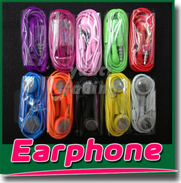 Wholesale Earphone Iphone Mic 3gs - Earphone Headphone Headset 3.5mm with Mic Color Colorful Earphones for iphone 4 4s 3gs 5 5s 6 Samsung S4 S5 Note 3 4 HTC One Blackberry