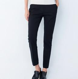 Pantalon bouffant en jersey en Ligne-Nouveau Printemps Et Automne Pantalon Capris 2015 Casual Simple Crayon Pantalon Noir Blanc Baggy Pantalon Femmes Pantalon Plus La Taille FG1511