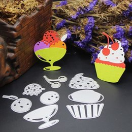 Wholesale Fruit Crafts - FruitIce Cream DIY Metal Cutting Dies Stencil Scrapbook Card Album Paper Embossing Crafts