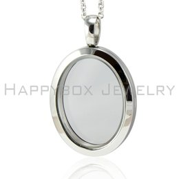 Wholesale Stainless Steel Living Lockets - New arrive 316L stainless steel vintage oval shape floating locket living glass photo locket pendant not including the chain free shipping