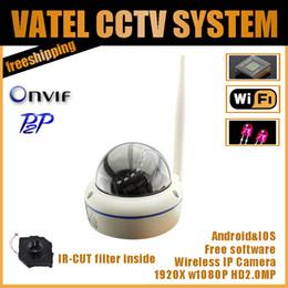 cúpula câmera de segurança metal Desconto HD 2.0MP1080P Câmera IP Wifi Rede P2P Plug And Play Onvif Câmera de Segurança Dome de Metal À Prova D 'Água Night Vision freeshipping