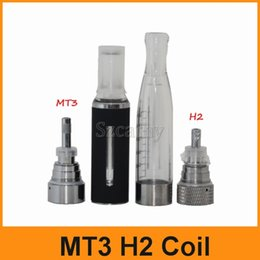 Wholesale H2 Cartomizer - MT3 H2 Coils 1.8ohm 2.4ohm 2.8Ohm For MT3 H2 Atomizers Cartomizer Clearomizer Replacement Detachable Core Head