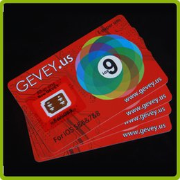 Wholesale New Gevey Sim - New gevey for iOS 5&6&7&8&9 Newest E-paper Sim Gevey Sim Card for iPhone 4 5 5S 6 6Plus 6S Gevey unlock all phones