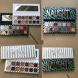 Wholesale Christmas Palette - In stock Kylie Jenner 14color Eyeshadow palette Kylie eye shadow Naughty Palette & Nice Palette Pressed Powder Eyeshadow Christmas free DHL
