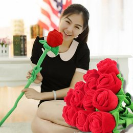 Wholesale Tulip Curtains - Hot Selling Plush Flower Artificial Tulip Stuffed Toy Cartoon Fake Flowers Curtain Buckle Party Wedding Home Decor JM0092 kevinstyle