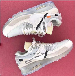 Wholesale Icing Shoes - With Original Box Zip Tie 1990 Off x Air 90 Ice 10X Virgil Abloh Sports Shoes for Men Ten Casual Sneakers Size 40-46