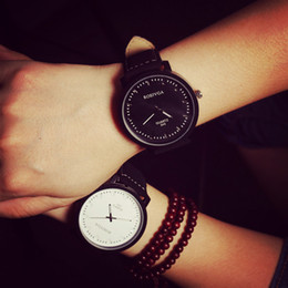 Wholesale sinobi watches men - Korean Fashion Lover's Watch Vintage PU Leather Strap Casual Wrist Watch for men women casual,classic