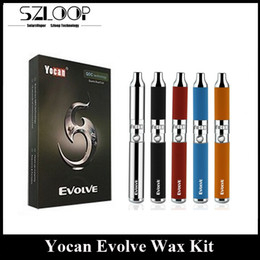 Wholesale Ego Kits - Authentic Yocan Evolve Kit 650mAh DQC Wax Vaporizer Quartz Dual Coil Atomizer EGO Thread DHL Free Hottest 2016