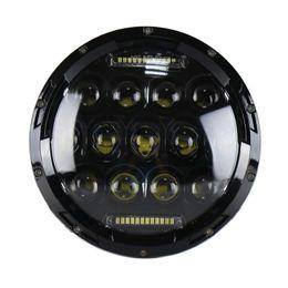 """Phares de jeep en Ligne-75W 7 """"Ronde LED Phare De Voiture Ampoule Phare Lampe De Remplacement de la Lampe de Rechange Accessoire pour Jeep Wrangler Haley Davidson Moto"""
