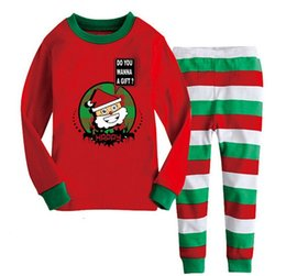 Wholesale Christmas Pajamas For Children - Christmas Pajamas For Baby New Years Kids Clohing Cartoon Outfits Girls 2015 2016 Cotton Autumn Winter Clothing Children Vetement Enfant