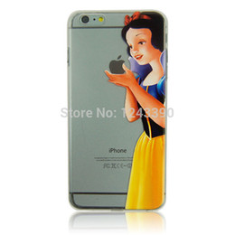 Wholesale Simpsons Iphone Cases - Wholesale-Princess Snow White Mermaid Simpsons Family Tinker Bell Clear Transparent Hard Plastic Case Cover For iPhone 6 4.7
