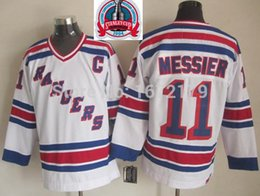 Wholesale Vintage Cups - Factory Outlet, CHEAP 1994 STANLEY CUP CHAMPIONSHIP VINTAGE NEW YORK RANGERS #11 MARK MESSIER WHITE THROWBACK STITCHED MENS ICE HOCKEY JERSE