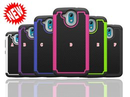 Wholesale Desire X Tpu - For HTC Desire 526 626 D626 626S LG X Style Tribute G Stylo LS770 HD LS676 Shockproof Football Armor Hard PC Silicone Case Dot Hybrid Cover