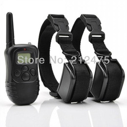 Wholesale Battery Trains - Brand New 2 DOGS LCD 100LV ELECTRIC SHOCK VIBRATE REMOTE DOG TRAINING COLLAR TRAINER PRODUCTS SUPPLIES Battery Life