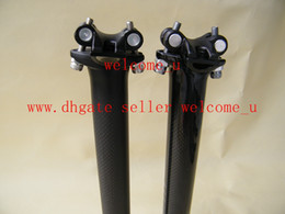 Wholesale Post Carbon - New Carbon Fiber Seatpost Carbon Bike Seat post Bicycle Parts 27.2 30.9 31.6*350 400mm matt gloss