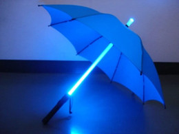 Wholesale Cool Night Lights - 10pcs lot Cool Blade Runner Light Saber LED Flash Light Umbrella rose umbrella bottle umbrella Flashlight Night Walkers