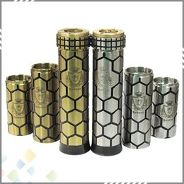 Wholesale E Cigarette Tube Mod - Newest Honour Mod E Cigarette Mechanical Mod with 510 thread Fit RDA Atomizer for 18350 18500 18650 Battery 3 tubes DHL Free