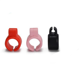 smoke ring Promo Codes - Silicone Smoking Cigarette Holder Tobacco Joint Holder Ring For Regular Size Cigarette Mix Colored Smoking Accessories