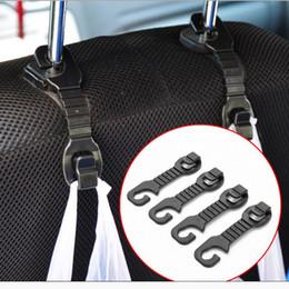 Wholesale Hanger For Car Seat - 1Pair Car Back Seat Headrest Hanger Holder Hooks For Bag Purse Cloth Grocer Popular