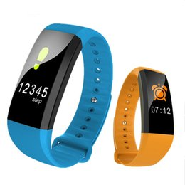 Wholesale Heart Rate Monitor Brands - M99 Color Smart Bracelet With Heart Rate Sleep Monitor Blood Pressure Anti Loss Bluetooth Smart Brand for Android IOS