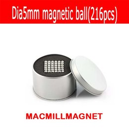Wholesale N35 Magnets - 216pcs NdFeB D5mm Neodymium Spheres Magnetic Ball Super Strong Rare Earth N35 Small Fridge Magnets round magnets N35 magnets