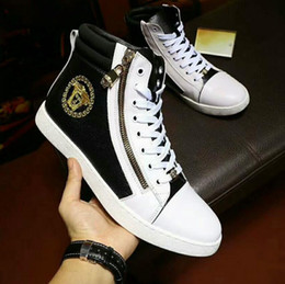 Wholesale European High Heels - Men's shoes 2017 new European station fashion casual shoes leather high-quality leather uppers factory direct free shipping