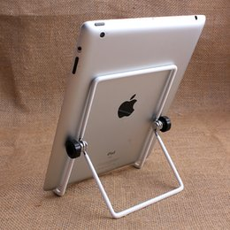 Wholesale Ipad Adjustable - 3 piece Start Sale Big Size Metal Tablet PC Stand Mount Holder Foldable Multi-angle Non-slip For iPad 1 2 3 4 5 air1 2 Mini
