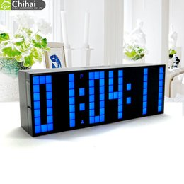 Wholesale Table Clocks Timer - Digital Big Jumbo LED Countdown Temperature Calendar World timer Desk Clock Table Clock LED Alarm Clock