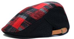 All'ingrosso-2015 nuovo colore caldo lana lana berretto berretto uomo donna all'aperto ricreazione moda cool plaid berretto berretto berretto da