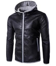 Взрывы одобрены для 2017 корейской версии стеганой хлопчатобумажной куртки тонкий хит Цвет с капюшоном кожа PY41 от Поставщики знак из натуральной кожи