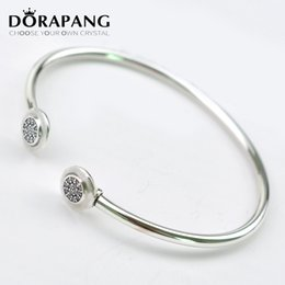 Wholesale S925 Pure Silver - DORAPANG 100%s925 standard pure silver lady's hand ring glamour factory wholesale
