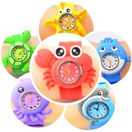 Wholesale Silicone Animal Slap Snap Watch - New Arrival 2014 Hot Models Ocean Animal Series Slap Watch Cute Animal Cartoon Slap Snap Watch Silicone Wrist Watch for Children Gift