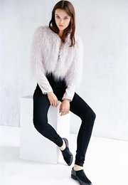 Wholesale Western Coats Plus Size - Western Fashion Womens High Quality Faux Fur Winter Warm Coat Outwear Short Overcoat Gray Color Free Shipping Plus Sizes WT127