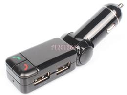 Livraison gratuite Bluetooth Transmetteur FM Double chargeur de voiture USB Lecteur MP3 avec appel mains libres / raccrocher, 50pcs / lot ? partir de fabricateur