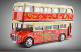 2019 ônibus de brinquedos 32 Liga Ônibus Modelo, Londres Ônibus De Dois Andares, Ônibus De Turismo, Sightseeing Veículo Com Luz, Som, Brinquedo Das Crianças, Presentes, Precisão De Alta Simulação, Navio Livre