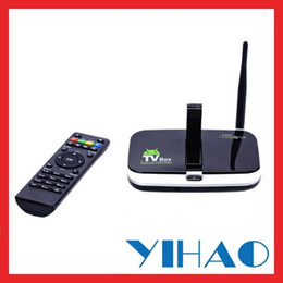 Wholesale Tv Box Cs918s - Wholesale-Intcrown CS918S Android 4.4.2 Quad Core tv box with camera Allwinner A31 2GB 8GB 16GB 1080P 4K 2K Streaming Media Players XBMC