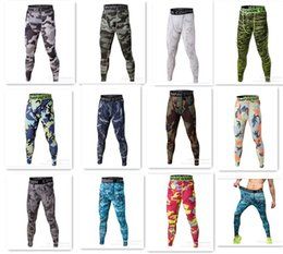 Wholesale Outdoor Running Pants - hot jogging Trousers Camouflage pants compression outdoor pants tights Running camo quick dry Base Layer fitness D611