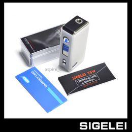 Wholesale Electronic Temp - Genuine SIGELEI 75W TEMP CONTROL MOD Electronic Cigarette Battery Sigelei 75W Box Mod E Cigarette Mechanical Battery Body 18650 Mod Battery