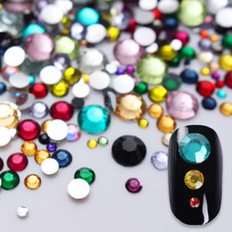 2000Pcs Colorful Flatback Strass Crystal Dimensioni miste Strass Pietre DIY Manicure 3D Nail Art Decorazioni da