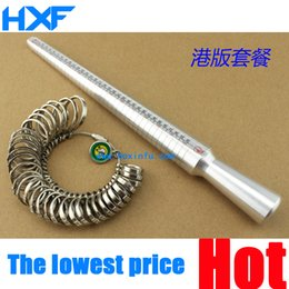 Wholesale Ring Mandrel Metal - Wholesale-Metal Guage Mandrel Ring Stick,4 Scale Ring Measuring Stick EUR US JAPAN HK & Ring Gauge Metal Finger Sizer Tool Measure 1-33