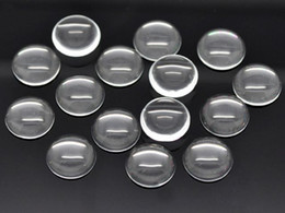 Wholesale 18mm Round Flatback Glass - 50 Transparent Round Flatback Glass Cabochon Dome 14mm 16MM 18MM No Hole