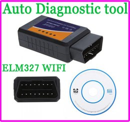 Wholesale Supports Obd2 Protocols - Mini ELM 327 ELM327 WIFI OBD 2 OBD2 OBDII Protocols Auto Car Diagnostic Interface Scanner tool code reader Support For Android iPhone iPad